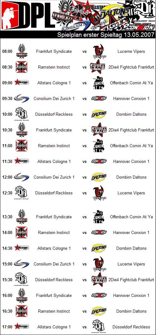 1. Liga Spielplan