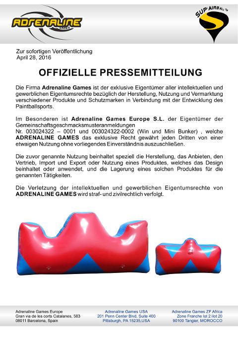 Press Release Adrenaline Games