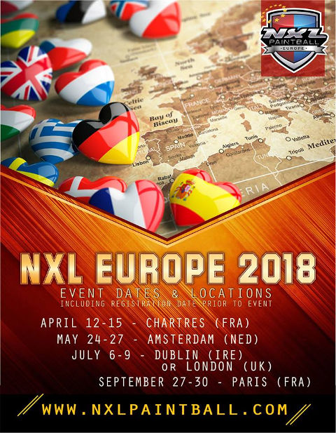 NXL Europa 2018 Locations mit Datum