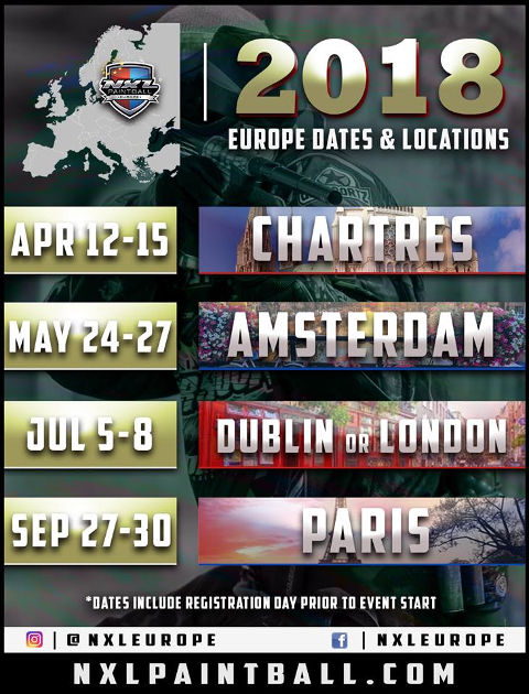 NXL Europe 2018 Locations mit Datum fix