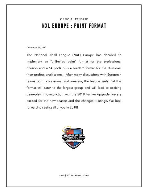 NXL Europe 2018 Paint Limits